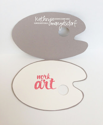 Kathryn Mangelsdorf Stampin' Up! Onstage Painter's Palette Card