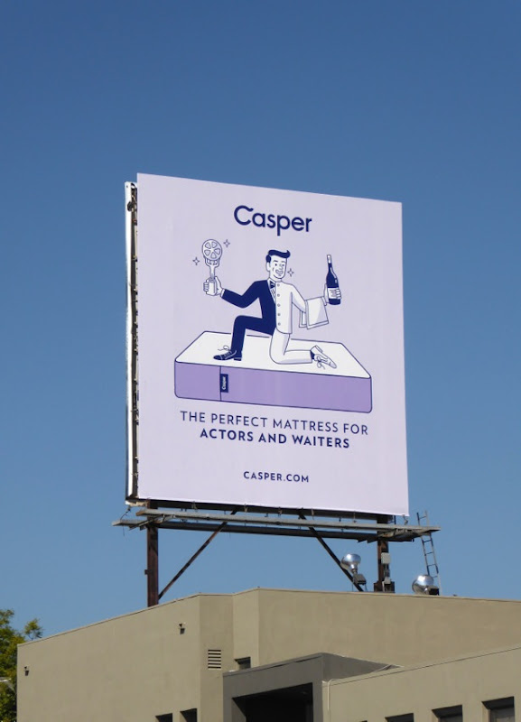 Casper perfect mattress for actors waiters billboard