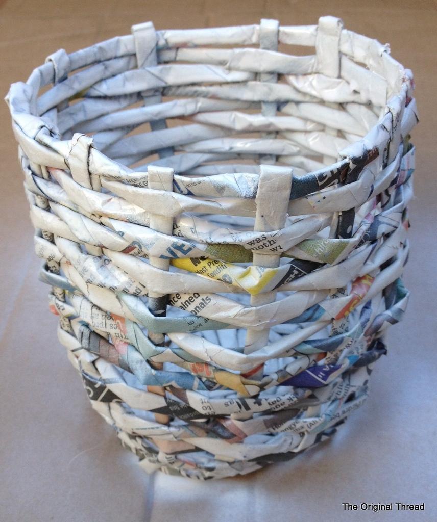 Fon Kartonundan Kolay Dekoratif Sepet Yapımı