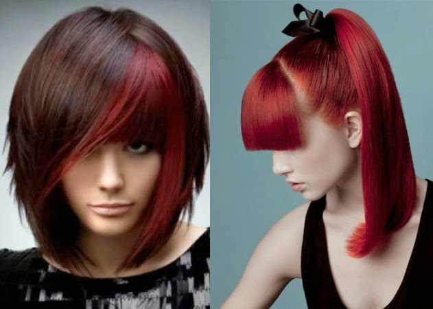 Latest Medium Hairstyles With Bangs 2014-2015