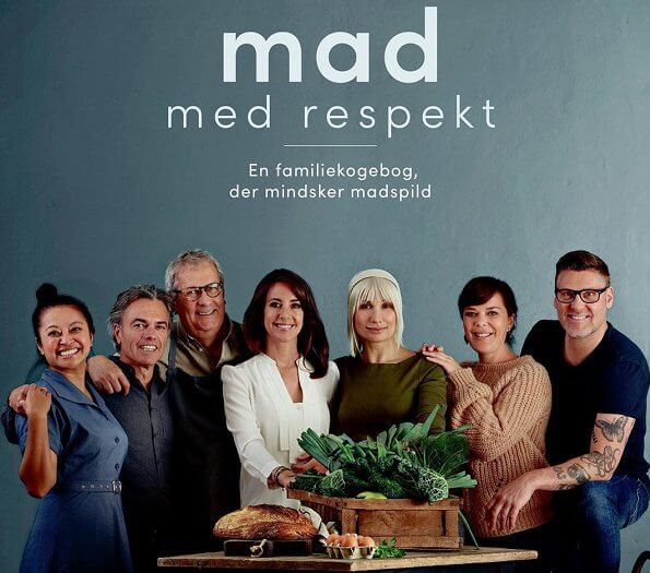 Princess Marie wore Maje Romea belted asymmetric ruffled crepe dress. Selina Juul, the cookbook at Gyldendal