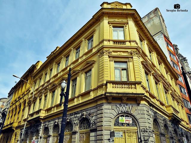 Vista ampla da fachada do Prédio da primeira agencia dos Correios de São Paulo - Centro