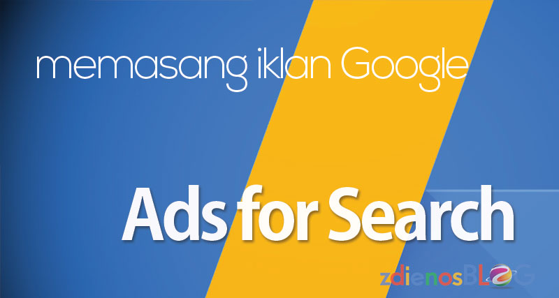 Memasang Google Adsense for Search