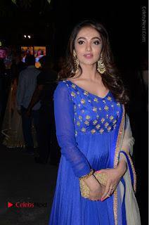Telugu Actress Tejaswi Madivada Pos in Blue Long Dress at Nanna Nenu Na Boyfriends Audio Launch  0097.JPG
