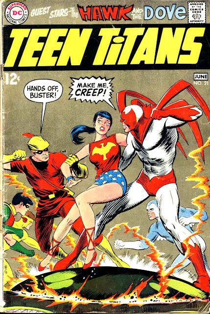 Teen Titans v1 #21 dc comic book cover art by Nick Cardy