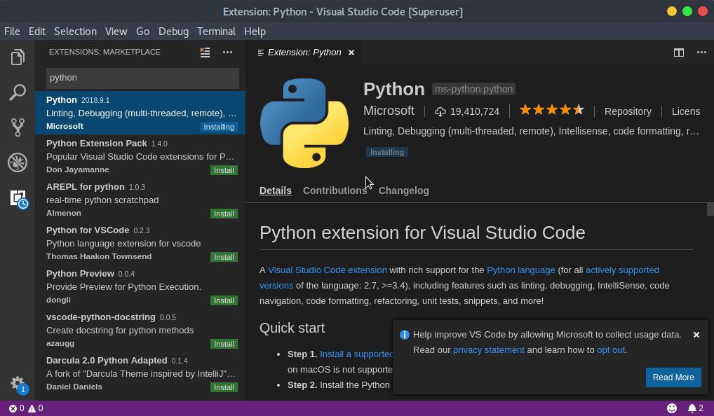 أفضل محرر أكواد برمجي للبايثون | Visual studio