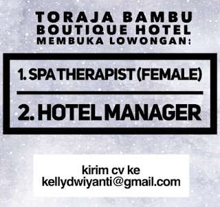 Open Recruitment at Toraja Bambu Bali Juli 2018