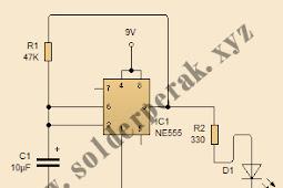 Skematik Rangkaian CLock Generator Dengan IC NE555