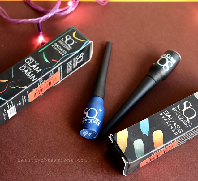 Stay Quirky Coloured Eyeliners (Badas Blue,  Badas Gold)  - Review