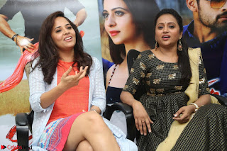 Actress Suma in Black Salwar Suit and Anusuya in orange Dress at winner movie press meet part 2 February 2017 (50).JPG