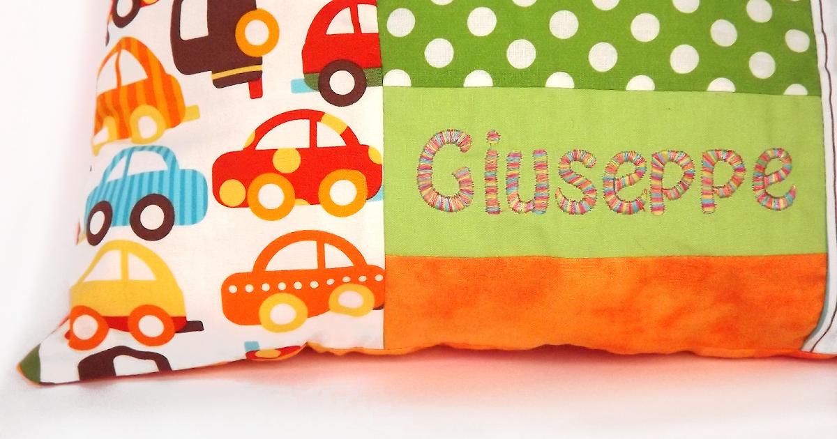 creando Cuscini personalizzati con nome bambino