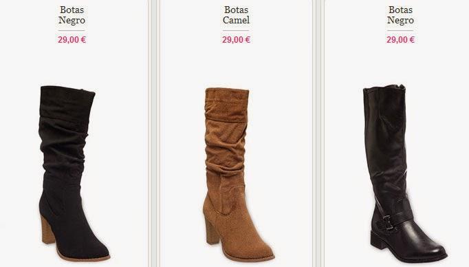 Tres modelos de botas en oferta