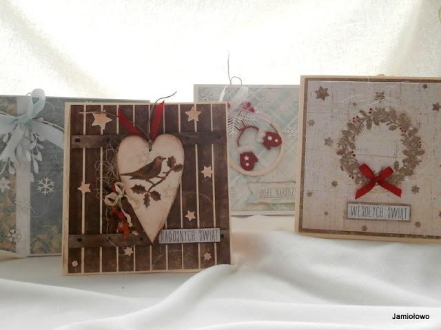 kartki na Boże Narodzenie - zestaw