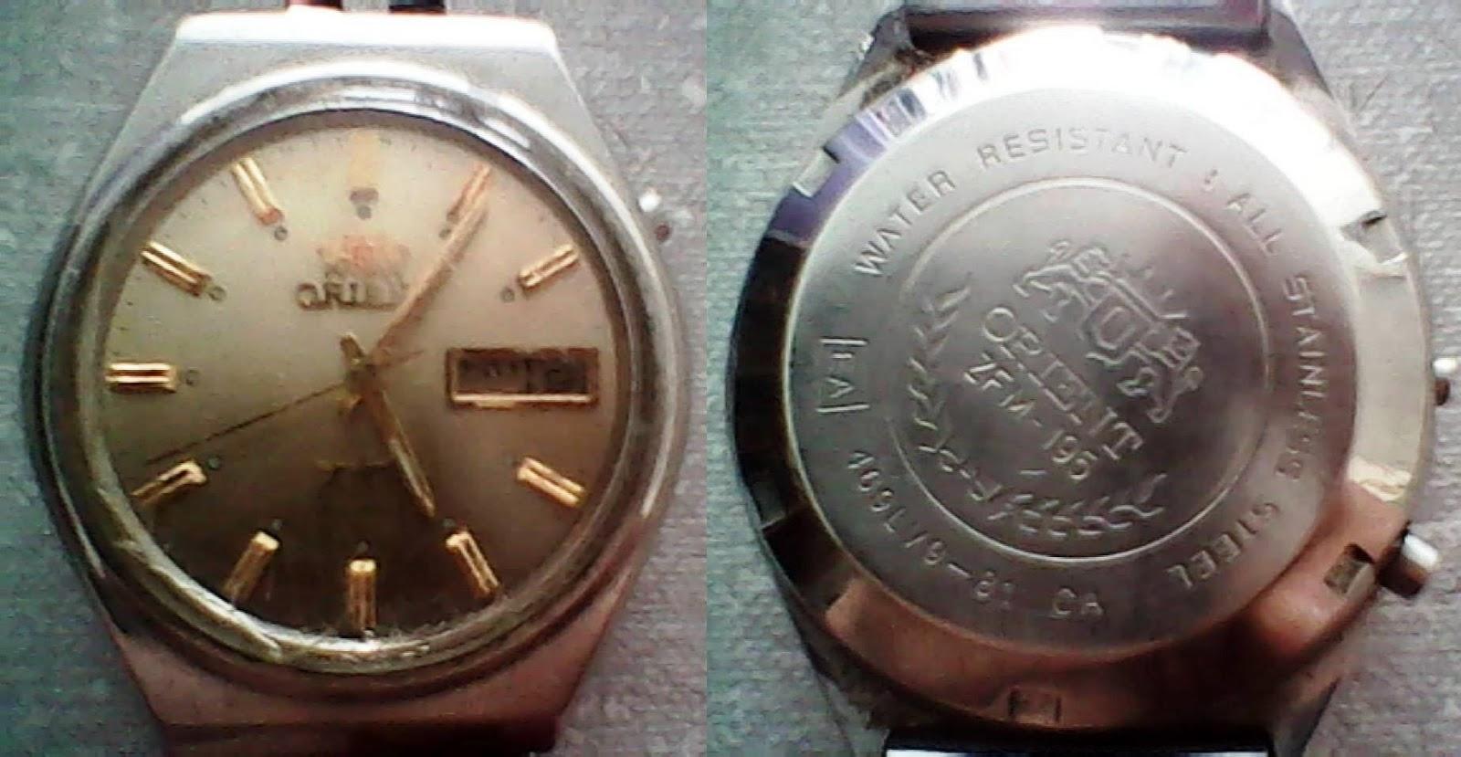 2dd20fac69f Relógio Orient antigo e moderno -- Comparação.