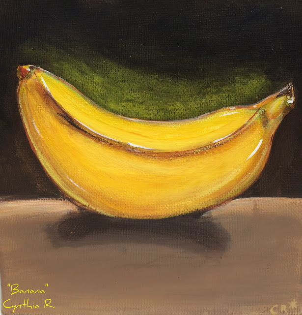 banana, banano, pintura acrílica en canvas, acrylic painting on canvas, pintura acrílica, acrylic painting