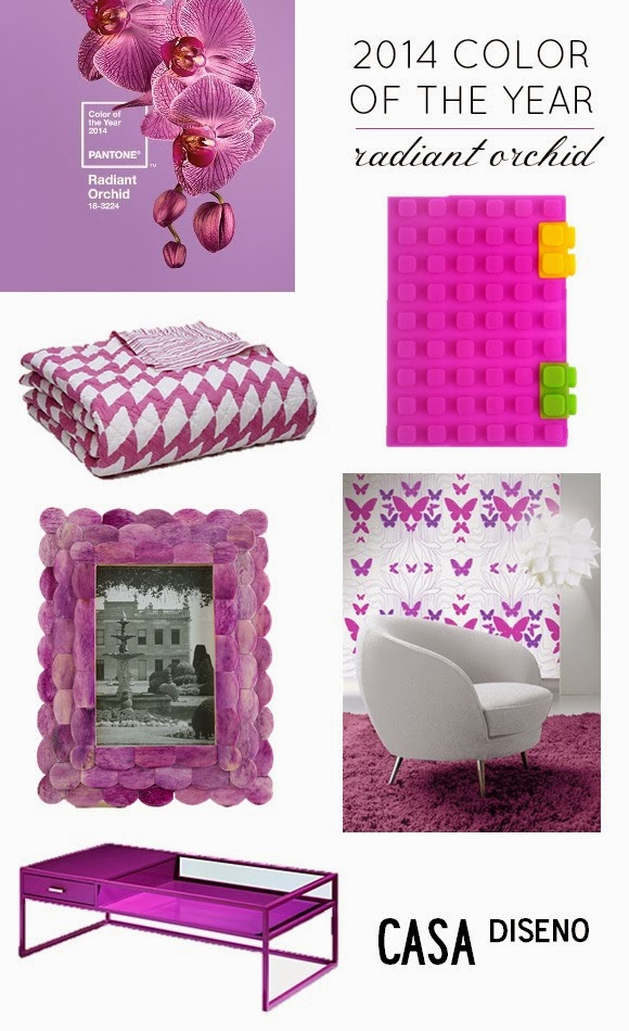 Radiant orchid indoors layout - Colour Of The Year 2014 In Interior Design