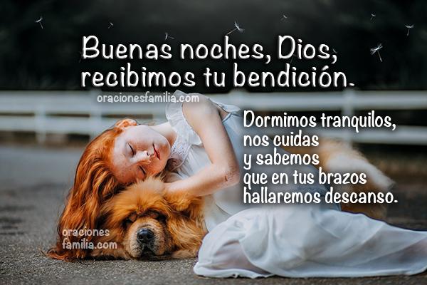 Oración de la noche, dormimos tranquilos, descanso en la noche pidiendo a Dios en oraciones cortas por Mery Bracho.