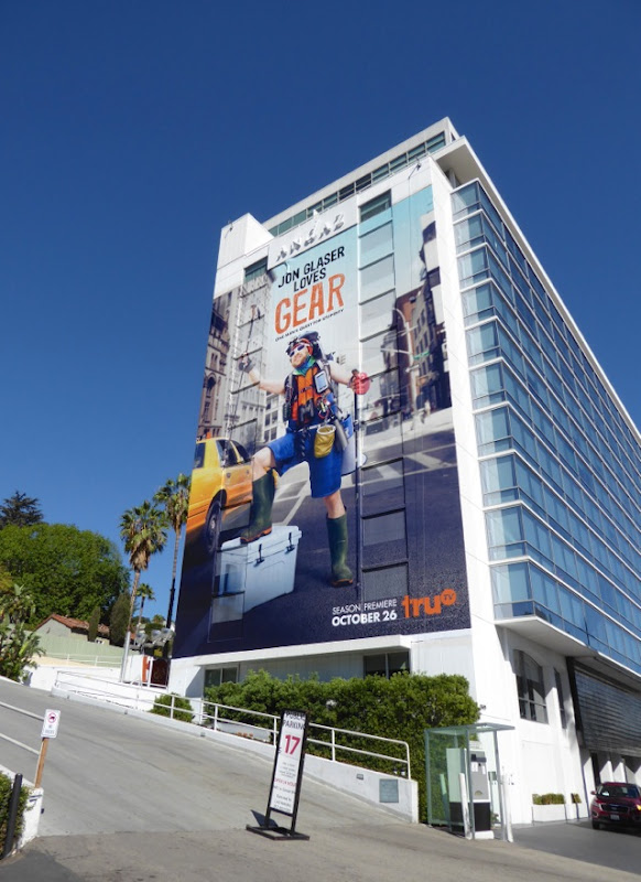 Jon Glaser Loves Gear series launch billboard