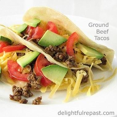Ground Beef Tacos - Tacos de Carne Molida / www.delightfulrepast.com