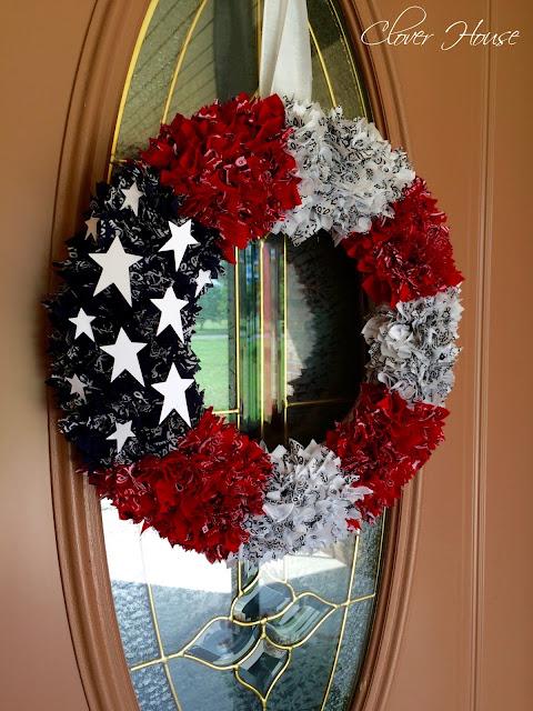 how to make patriotic rag wreath