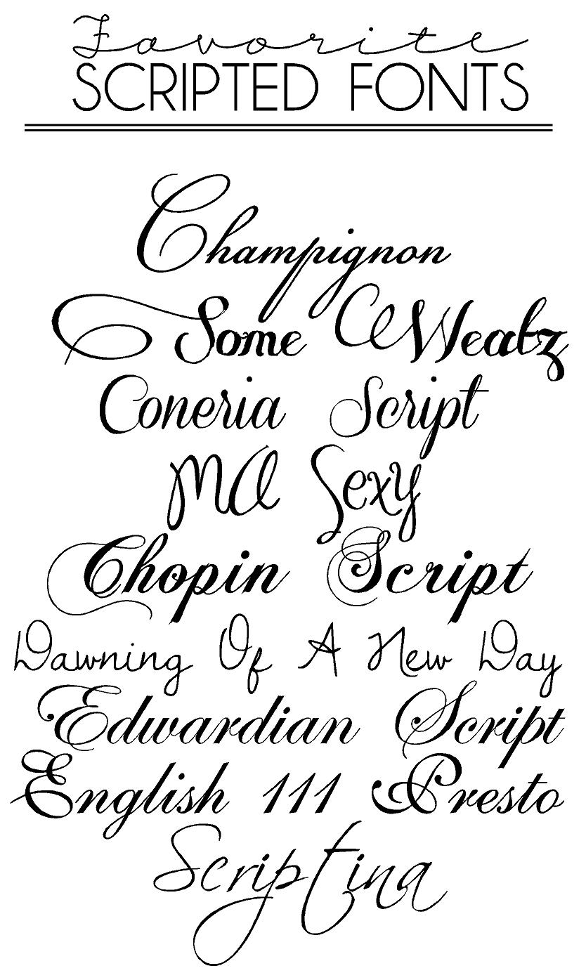 The Art of Choosing the Perfect Font and Lettering for a ...  Letter D Fonts Cursive