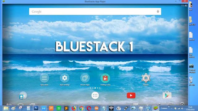 Tampilan dari Bluestack 1 (ringan)