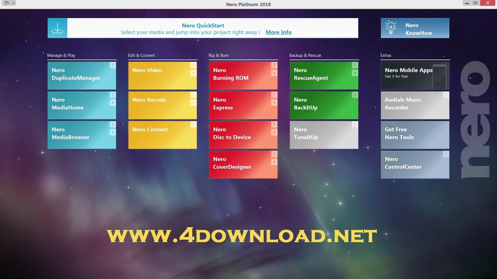 Nero Platinum 2019 Suite v20.0.05900 Full version