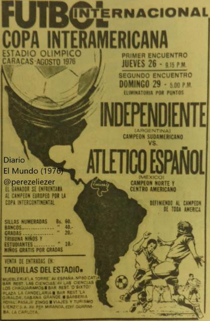 Resultado de imagen para independiente campeon interamericana