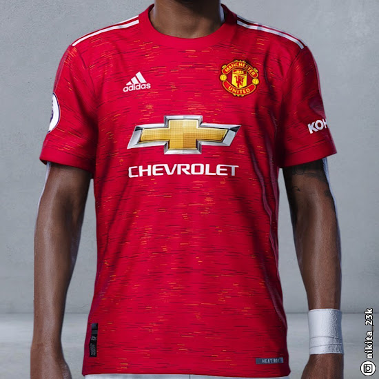 On Pitch Manchester United 20 21 Home Kit In Pes Footy Headlines