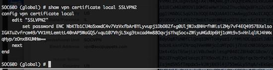 Ken Felix Security Blog: Fortigate SSLVPN certificate & key