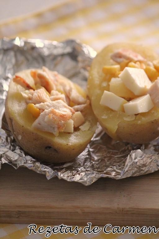 Patatas de feria en crockpot
