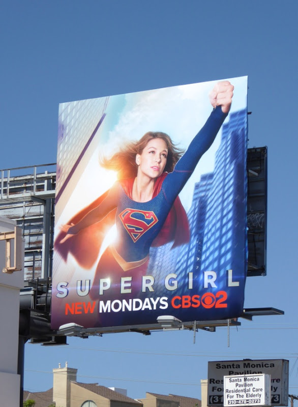 Supergirl series launch billboard