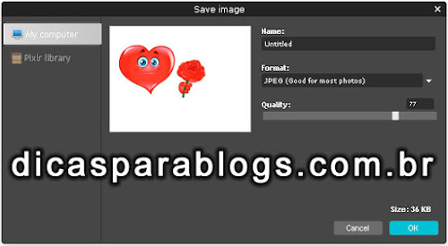 Melhor Formato para Salvar Imagens