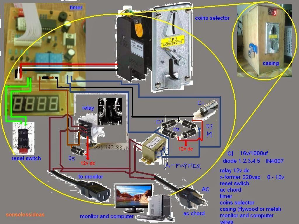 wiring diagram of piso net timer [ 1024 x 768 Pixel ]