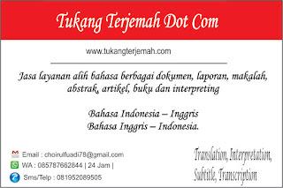 Jasa Terjemah Kalimantan Tengah