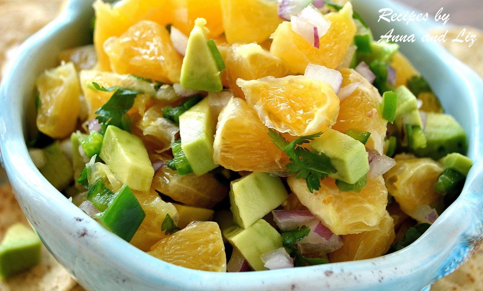 Fresh Orange Avocado Salsa - 2 Sisters Recipes by Anna and Liz