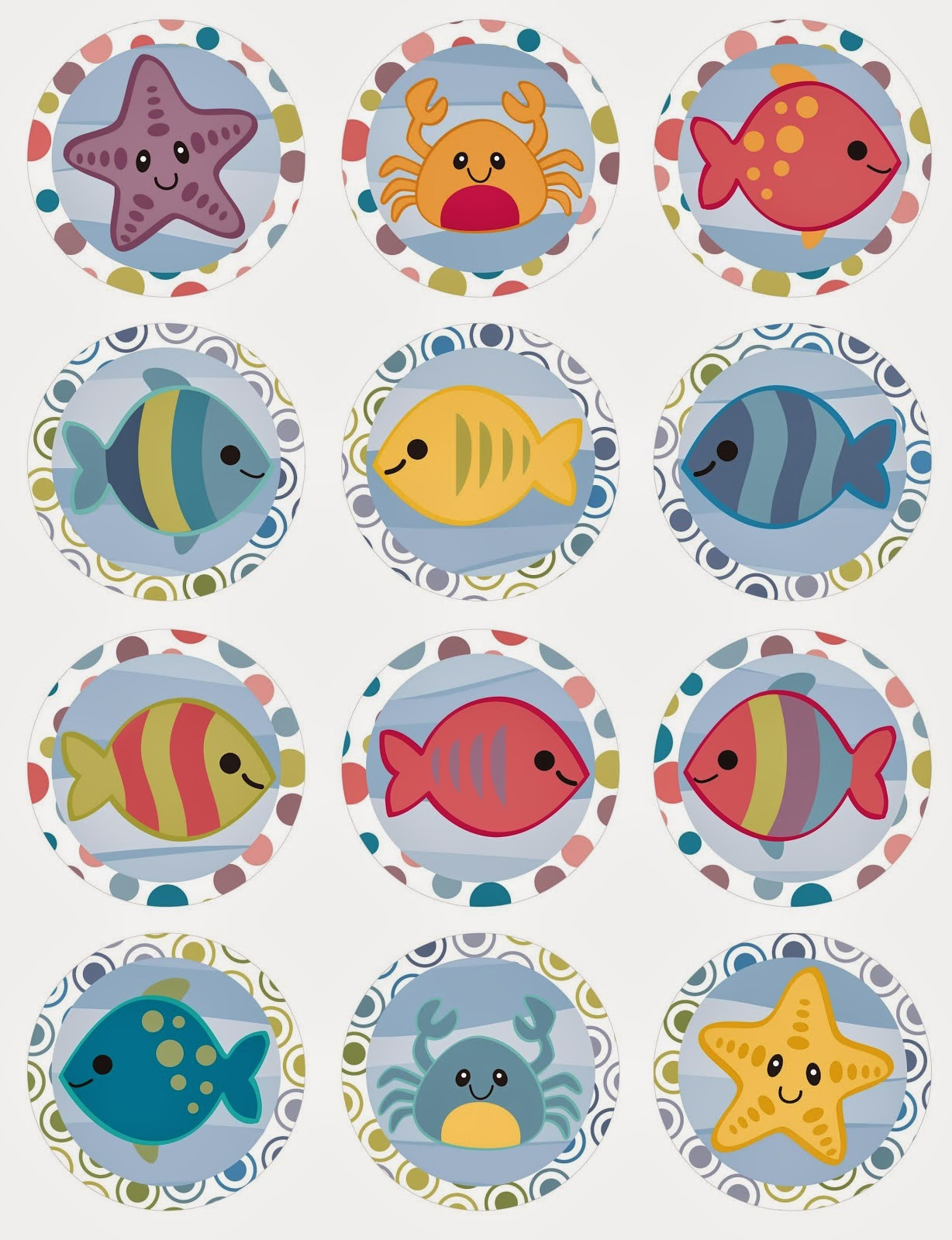 Under the sea free printable mini kit oh my fiesta in for Stickers de pared