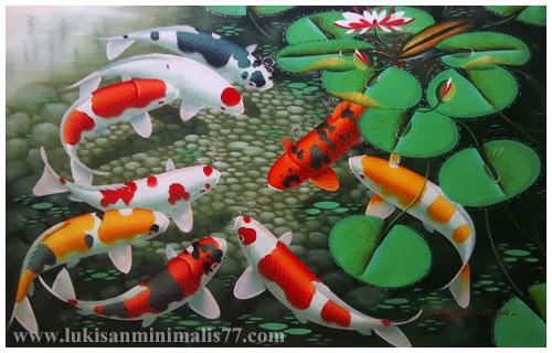 Lukisan Ikan Koi Wallpaper Cikimm Com