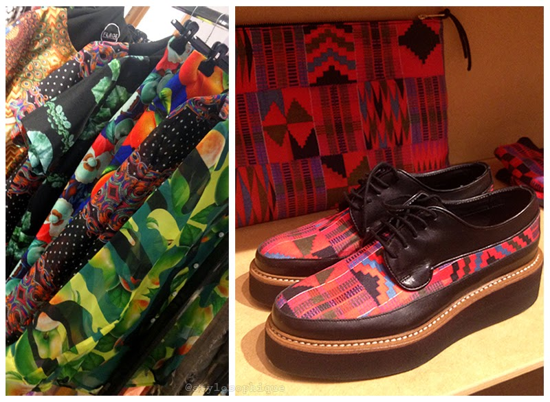 Flage, shoes, flatform, aztec, print, Pitti W