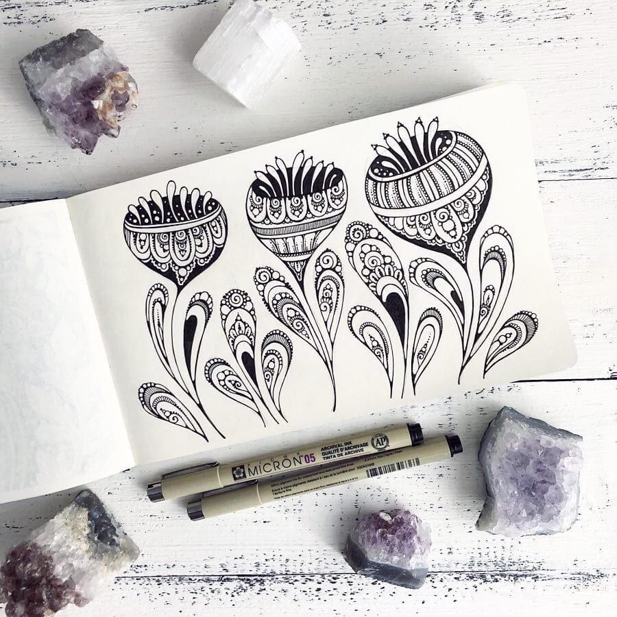 08-Ksenya-Gromova-Ink-Mandala-and-Flower-Drawings-www-designstack-co