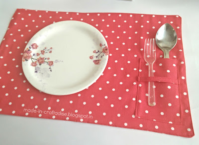 Free sewing pattern DIY Fabric Coasters, placemats