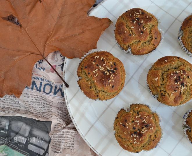 Muffins de higos, sésamo y miel 1