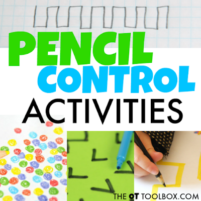 Pencil control activities are beneficial for improving handwriting legibility.