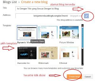 bikin blogspot gampang banget