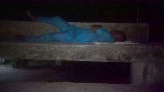 1 Photos: UNILAG students sleep outside in the rain