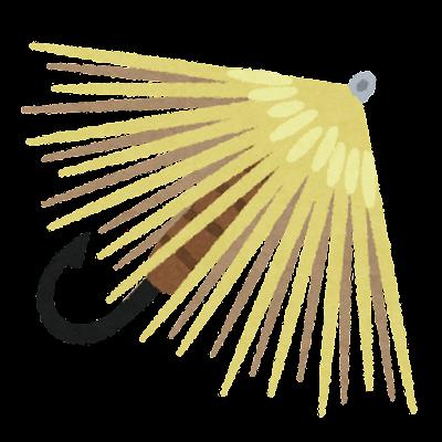 釣り針のイラスト(毛針)