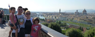 Vistas de Florencia desde la Plaza de Miguel Ángel o Piazzale Michelangelo.