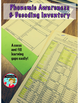 Phonemic Awareness and Decoding Inventory