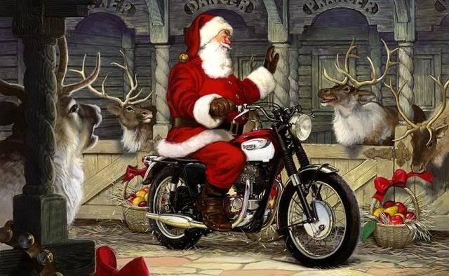 Santa Clause on Bike image