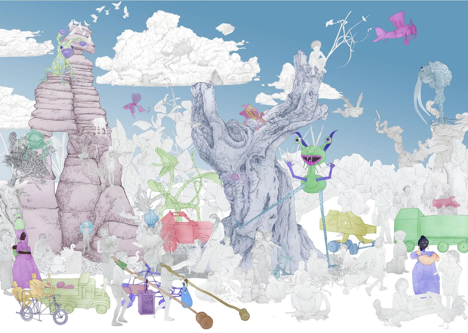 El juego en la infancia, alebrijes, dibujo